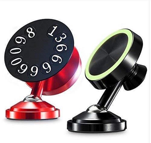 magnetisch KFZ Halterung für iPhone, Samsung und Alle Anderen Handys, Magnetverschluss Auto Handy Halterung Für Auto Handy in Car Handy Halter Magnet Stick Jeep Armaturenbrett, Luxury Red