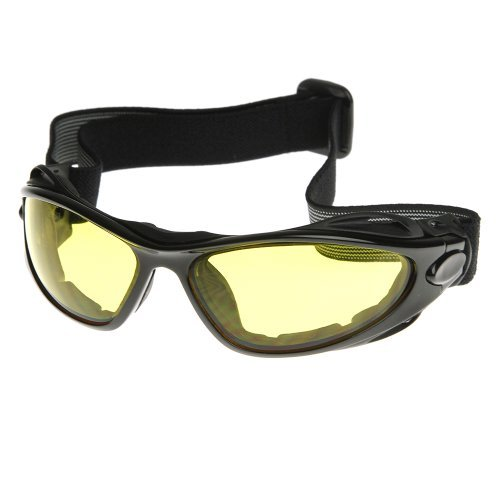 Black Hombre Para Sol Triple Gafas Piloto Shiny Optic De Yellow Qrtshd