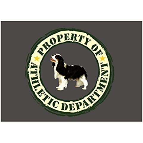 Teeburon PROPERTY OF Cavalier King Charles Spaniel ATHLETIC DEPARTMENT TRANSFER Sticker Pacchetto di