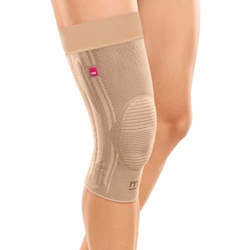 medi Genumedi - Kniebandage mit Haftband   sand   Größe VII extraweit   Kompressionsbandage zur Entlastung der Kniescheibe   Beidseitig tragbar