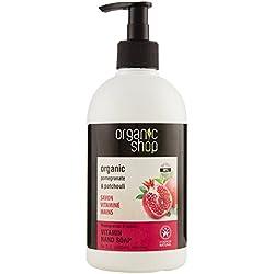 Organic Shop Sapone Liquido Mani Vitaminico Pomegranate & Patchouli - 500 ml