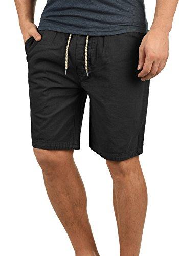 Indicode Aberavon Herren Chino Shorts Bermuda Kurze Hose Aus 100% Baumwolle Regular Fit, Größe:M, Farbe:Black (999) Vintage Washed Chino