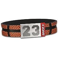 Pulsera de básquetbol BRAYCE con tu número del 00 al 99 (número de camiseta, número del jugador, número de la suerte): una joya para mujeres y hombres