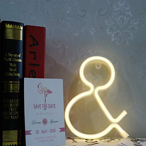 on Alphabet Marquee Sign & Form-LED Neon-Wand-Nachtlicht Batterie und USB Operated Freistehende Word-Licht-Dekor für Haus Schlafzimmer Weihnachten Hochzeit Bar (&) ()
