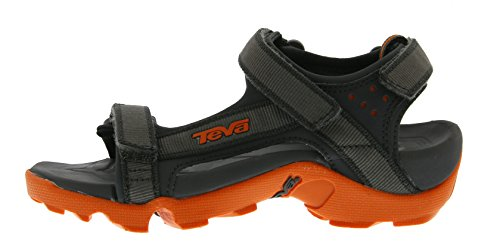 Teva Tanza Y's Unisex-Kinder Sport- & Outdoor Sandalen Grau (grey/orange 519)