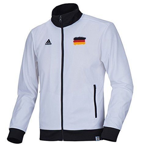 Adidas Germany Tracktop Trainingsjacke Jacke Weiss   Schwarz Gr. M G77798  Herren c6d45b7996