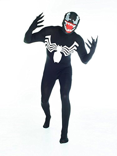 Morphsuits Official Venom, Costume, Nero, XXLarge - 6'2-6'9 (186cm-206cm)