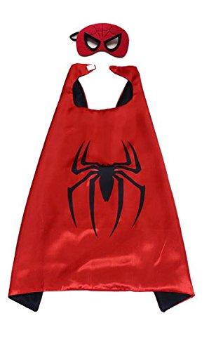 Mr Gadget Solutions® Premium Qualität Super Maske und Umhang Kostüm Set für Kinder Spider Man