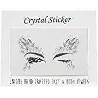 Crystal Tattoos Face Jewels - Festival Rhinestones Gems Stickers Tatuajes temporales Bindi Eyes Stones Mermaid for Rave Party Face Rocks