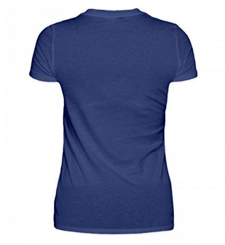 Shirtee Hochwertiges Damen Organic Motocross Motorrad-Bekleidung · Geschenkidee für Endurosport Fans · Dirtbike Motiv/Spruch Lila Blau
