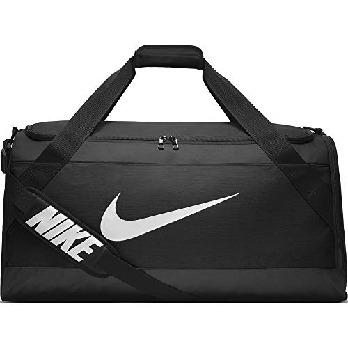 Nike Brasilia Trainingstasche, Black/White, L