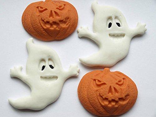 Halloween Ghost Kürbis Fondant Cupcake Kuchen Essbare Topper, Spooky Scary Monster Geburtstag Party Decor Cupcakes