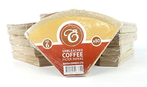 EDESIA ESPRESS - Kaffee-Filtertüten - ungebleicht - Größe 6 - 800 Stück