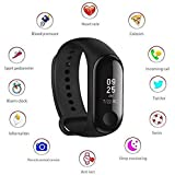 Animate M3 Band|Heart Rate Band|Health Watch|Calories Tracker Band|Step Count Band|Fitness Tracker|Bluetooth Smart Band|Wrist Watch Band with Alarm System Compatible with All Android and iOS (Black)