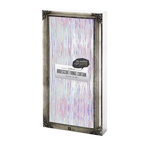 Talking Tables Glitterati Rideau Décoratif Iridescent à Franges pour Fête du Réveillon, Mariage et Fête, Multicolore (2 x 2 m)