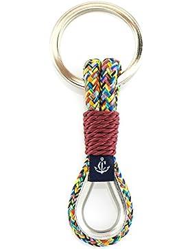 CONSTANTIN NAUTICS Schlüsselanhänger mit Segelkausche Maritim, Hangemacht, das perfekte Geschenk,aus Segeltau...