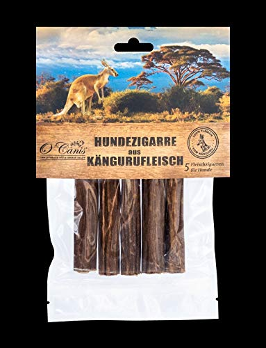 O´Canis Hunde-Zigarre aus Kängurufleisch 5 Stück - New 2cm mehr Fleisch !