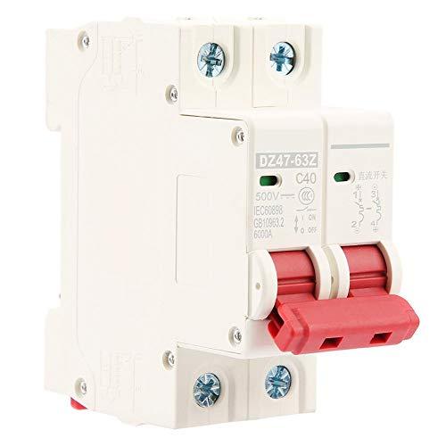 Interruttori magnetotermici 50A DC 500V, interruttori automatici magnetotermici 2P DZ47-63Z-2P Interruttore magnetotermico