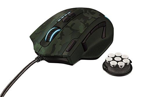 Trust Gaming GXT 155C - Ratón para gaming (PC), color verde camuflaje