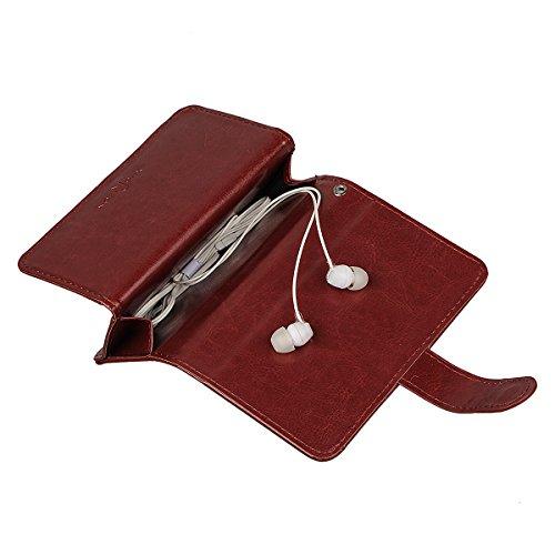 """iPhone 6 (4.7"""")Hülle wallet case,xhorizon TM FM8 2 in 1 Premium Leder [Brieftasche Funktion] [Magnetisch Abnehmbar] Wristlet Geldbörse Mehrfache Karten-Schlitze Abdeckung Folio Schutzhüller für iPhone Kaffee"""