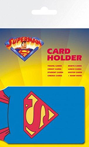 1art1 72834 Superman - Cape EC-Kartenhülle Kartenetui Für Fans Und Sammler 10 x 7 cm