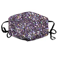 Monicago Anti Dust Mask, Face Masks Anti-Dust Mouth Cover Super Cool Glitter Sparkles Washable And Reusable Mask Warm Windproof For Women Men Boys Girls Kids