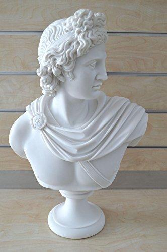 Apollo Busto Escultura de dios griego antiguo dios de sol y poesía Grand Estatua