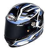 Suomy KSSR0010.5 Casco Moto, Azzurro, L