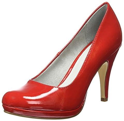 Tamaris Damen 22417 Pumps, Rot (Chili Patent 520), 40 EU