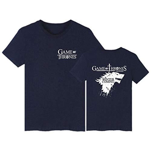 WUDUHUI Kurzarm American Drama Power Game EIS und Feuer Song Stark Family Movie Kurzarm T-Shirt