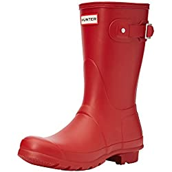 Hunter Original Short - Botas para mujeres, color rojo (military red), talla 40/41 EU (7 UK)