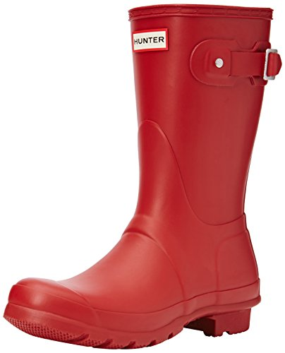 Hunter Damen Original Short Kurzschaft Gummistiefel, Rot (Military Red), 40/41 EU (7 UK)