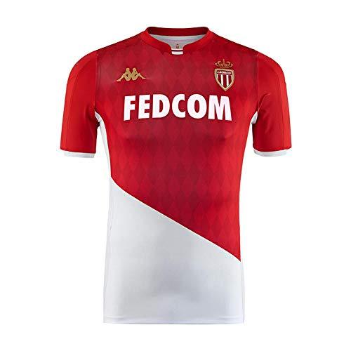 Kappa Camiseta De Juego Home Oficial Monaco, Niños, Rojo/Blanco, 12Y