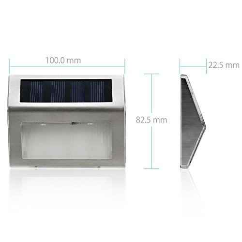 Chollo l mpara solares exterior impermeable luz solar - Iluminacion solar exterior ...