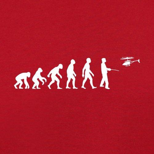 Evolution of Man - Ferngesteuerter Hubschrauber - Herren T-Shirt - 13 Farben Rot