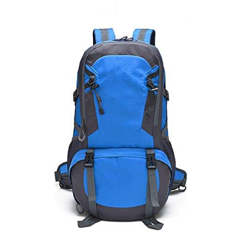 TUOZA Alpinismo All'aperto Zaino Borsa Da Viaggio Impermeabile,Black-OneSize Blue
