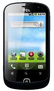 TCL TLH-924Smartphone (8,9 cm (3,5 Zoll) Touchscreen, 5 Megapixel Kamera, MP3-Player, WLAN, Android 2.3) blau/schwarz