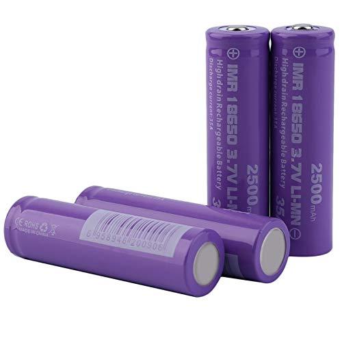 4pcs Alto Drenaje 18650 Corriente de Descarga 35A 3.7V Batería Recargable 2500mAh
