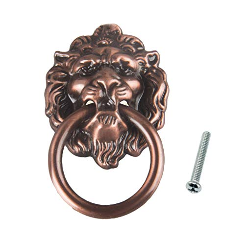 Analysisty Antique Bronze Löwenkopf zieht für Dresser Drawer Cabinet Türgriffe Knöpfe -