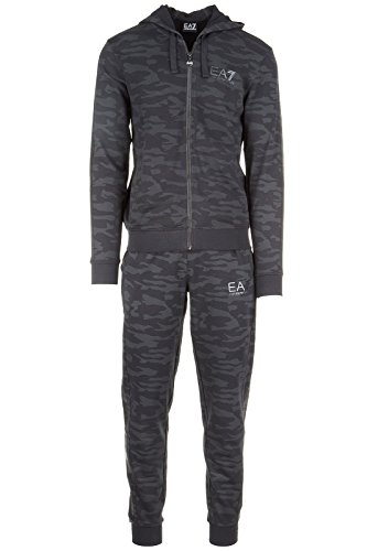 Emporio Armani EA7 Herren Jumpsuit fashion Anzug Sweatshirt Schwarz EU M (UK 38) 6XPMC2 PJ50Z 1200