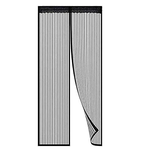 Magnetische Fliegengitter Mit Schweren Pflicht Mesh-vorhänge Für Französisch Türen,halten Insekten Von, Einfache Installation-schwarz 120x210cm(47x83inch)