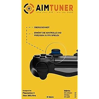 AimTuner StarterSet 6 Schaumstoff-Ringe Stoßdämpfer und Zielhilfe für Analogstick/Thumbstick / Der Schaumstoff Ring optimiert deine Zielsicherheit Analogstick Stoßdämpfer PS4