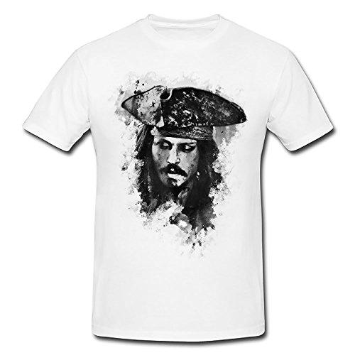 Jack Sparrow T-Shirt Frauen, Mädchen mit Stylischen Motiv von Paul ()