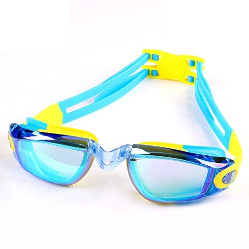 LBAFS Kinder Schwimmen Brille Galvanik Großen Rahmen Anti-Fog Schwimmbrille Wasserdichte UV Schutz Schwimmen Brillen Für Kinder Geschenk,I
