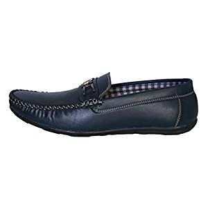 antire Blue Casual Formal Corporate Moccasins Slip-On Loafers Shoes for Men & Boys