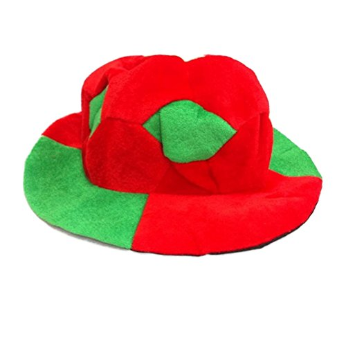 nd World Cup Fußball geformte Hut Fans Gedenken Karneval Flanell Hut Passende Nationalflaggen Flexibel (Russische Themen Kostüme)