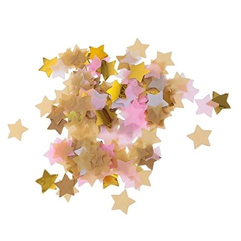 Gazechimp Confettis de Table Mini Etoile Multicolore Décoration Mariage Anniversaire