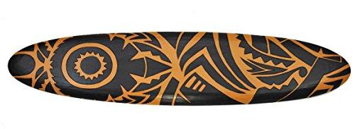 Surfboard 100cm Dekoration Maori Moai Surbrett im Tiki Beach Style Hawaii