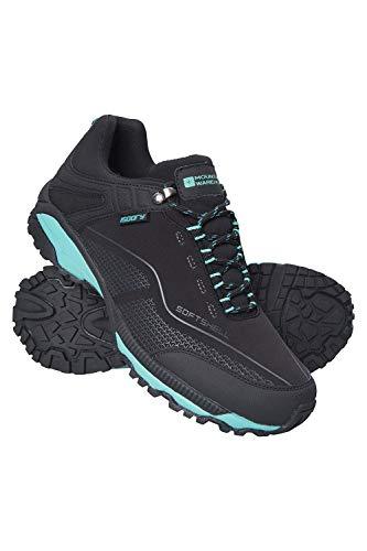 Mountain Warehouse Collie Wasserfeste Schuhe für Damen - Leichte Damenschuhe, atmungsaktive, weiche Wanderschuhe - Ideal zum Wandern in Allen Jahreszeiten Schwarz 39 EU
