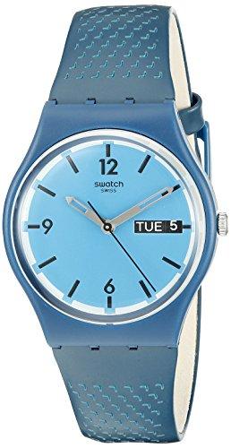 Swatch GN719 - Orologio da polso Unisex, Silicone, colore: Blu
